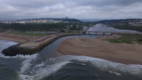 The connectivity between the sea, estuary and river is also usually overlooked. It is however necessary for many species including our beloved freshwater eels. Here, the Umgeni River Mouth in Durban. Photo courtesy of Camille Fritsch
